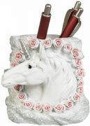 Unicorn and Roses Pen Holder Pen Pot Container Desk Tidy Home Office Supplies